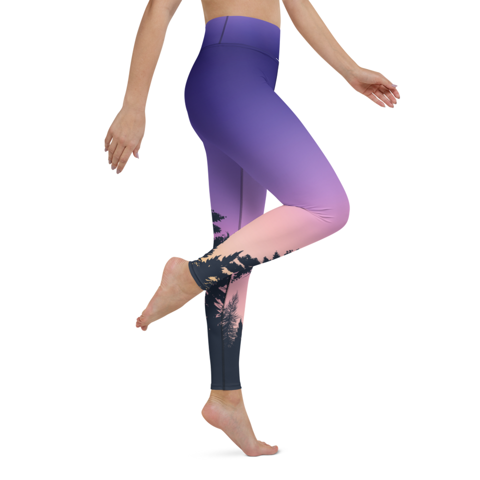 Sunset Forest Leggings, Stretchy and Comfortable, Delivering Worldwide