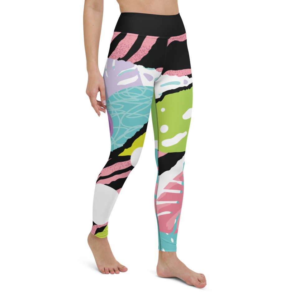 Abstract Printed Leggings, high waist, made in Latvia | Printing Boutique
