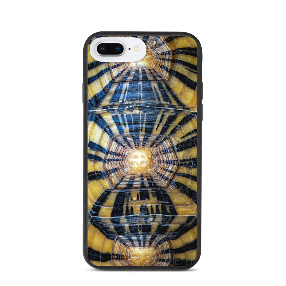 Eco turtle shell phone case, anti-shock, plastic free. Made in EU