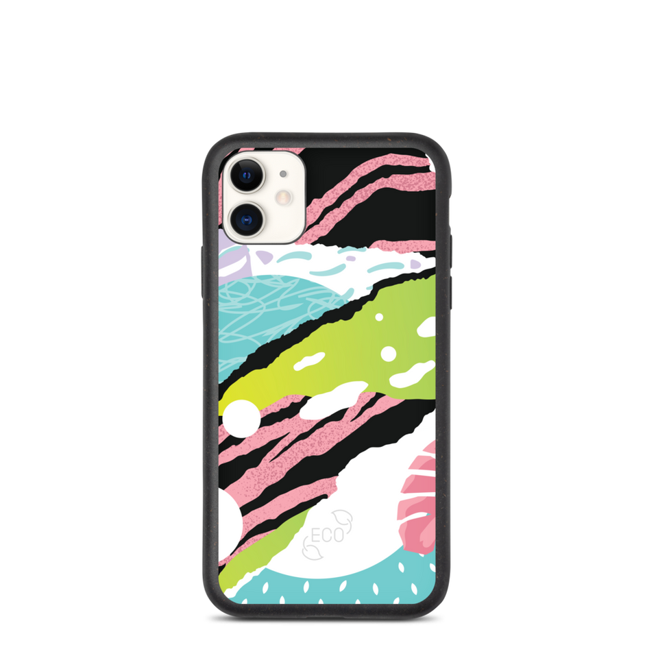 Abstract Biodegradable Eco Friendly iPhone Case, made in Latvia, EU