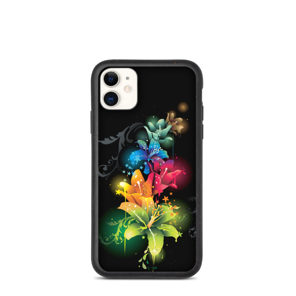 Biodegradable floral phone case, eco-friendly Made in Latvia