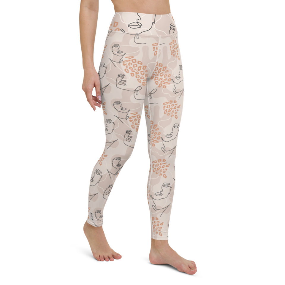 Pink Feminine Cute Printed Leggings made in Latvia | Printing Boutique