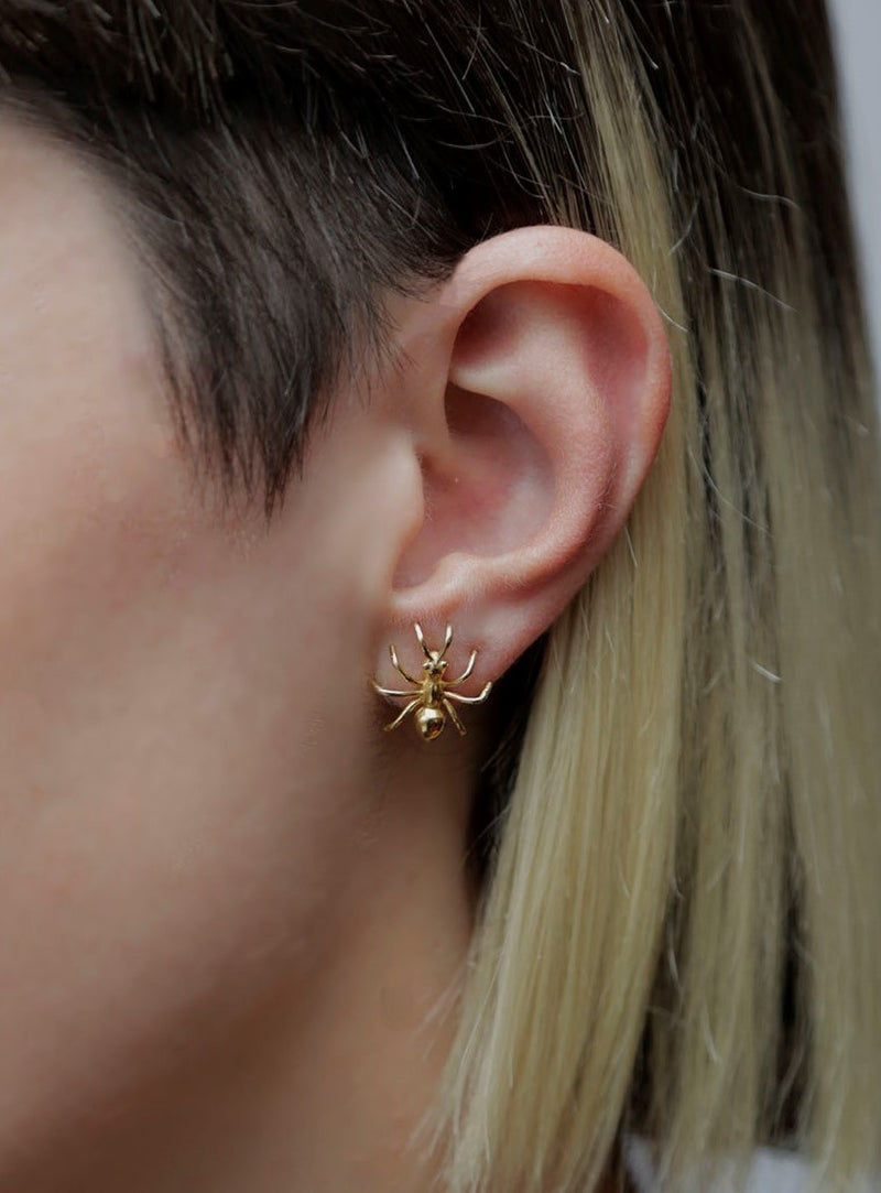 """ANT"" GOLD EARRINGS"