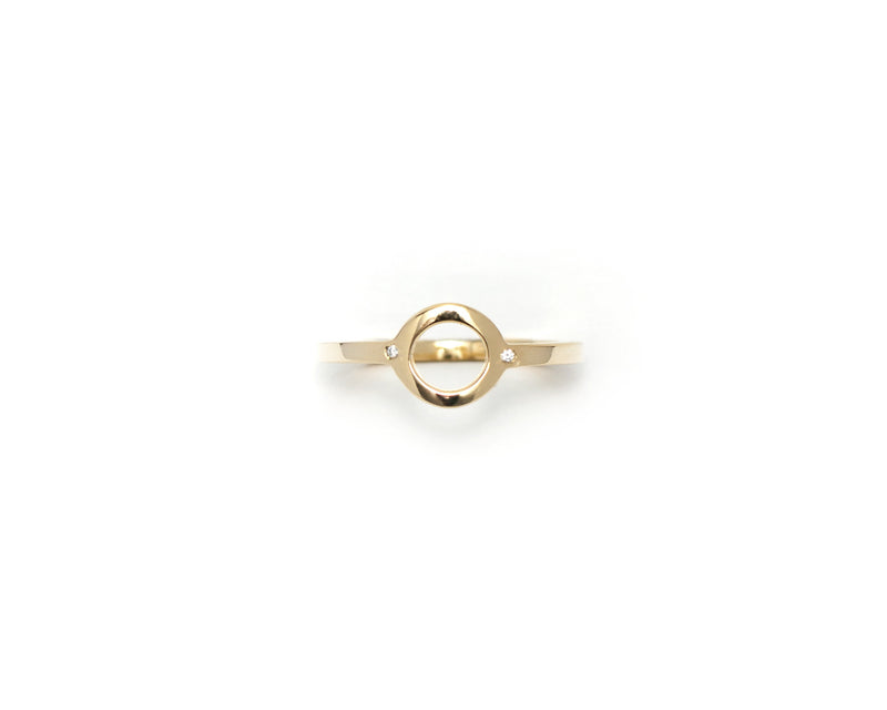 """NEW BEGINNINGS"" RING - GOLD & ZIRCONIA - DE LA ROSA TULUM"