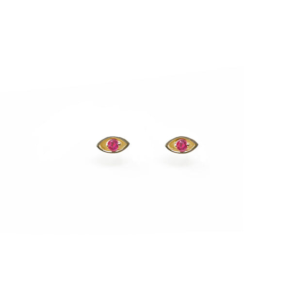 """EYE PROTECT YOU"" GOLD EARRINGS - RUBI"