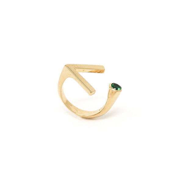 """RIGHT PLACE, RIGHT TIME""  STONE GOLD RING"
