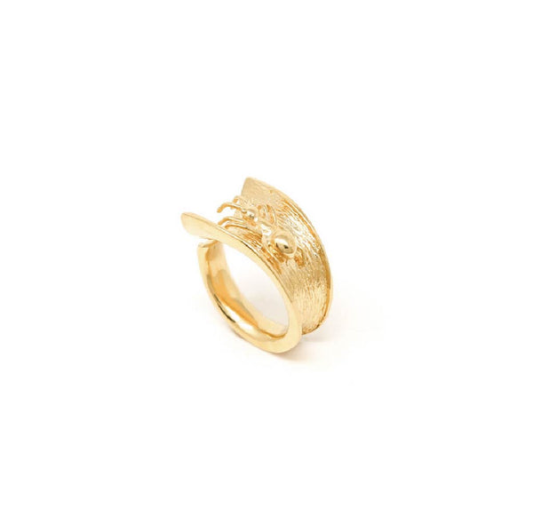 """ANT"" GOLD RING"