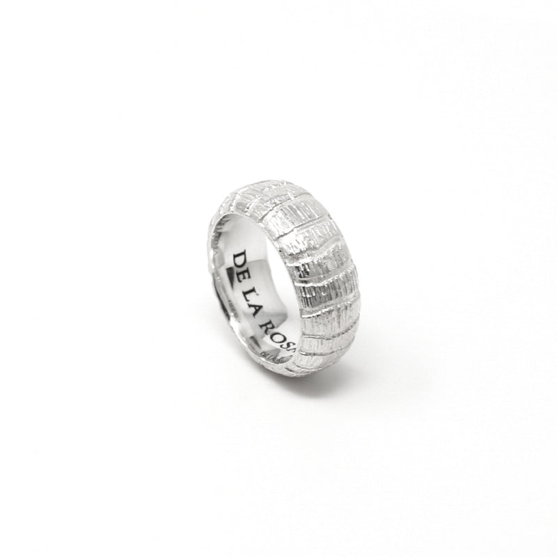 """JUNGLE"" SILVER RING - 10 mm"