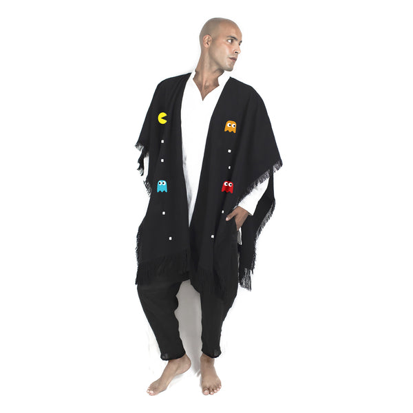 """PLAY"" BLACK PONCHO"