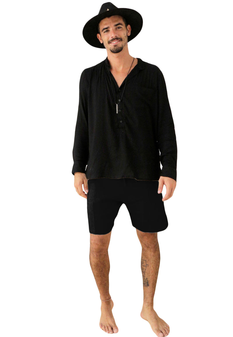 """BUBBLE""  BLACK SHORT"