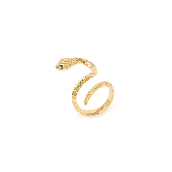 """SLITHER"" SNAKE GOLD RING"