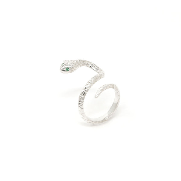 """SLITHER"" SNAKE SILVER RING"