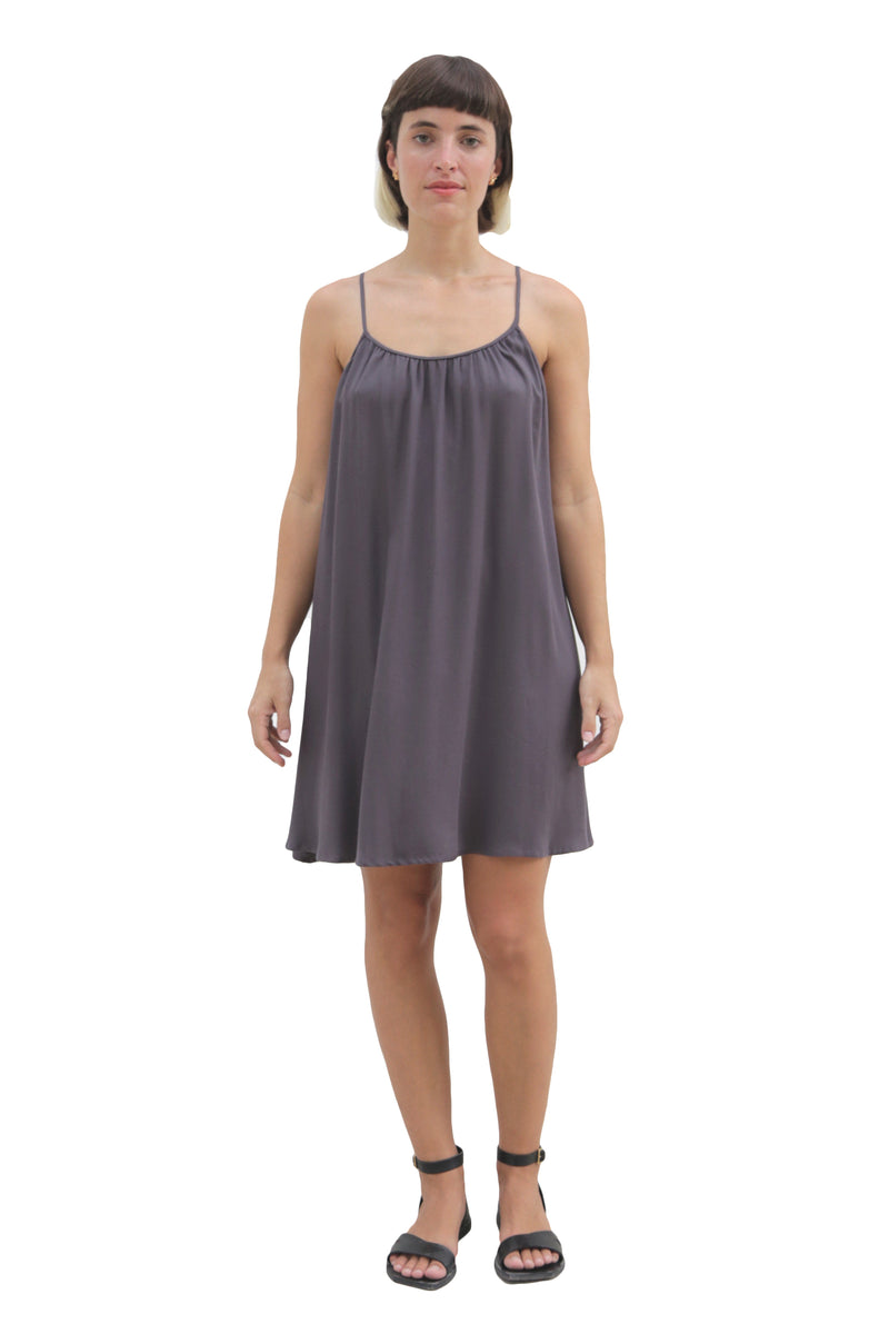 """SUNNY"" GRAY SHORT DRESS"
