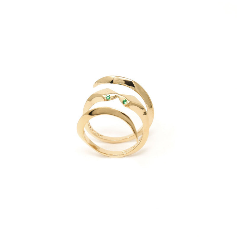 """THE KISS"" GOLD RING"