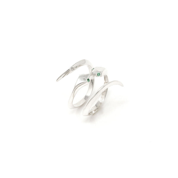"""THE KISS"" SILVER RING"