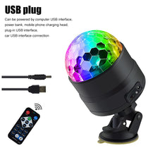 Load image into Gallery viewer, Dlight Sound Activated Rotating Disco Ball Party Lights Strobe Light USB LED Stage Lights For Christmas Home KTV Xmas Wedding Show