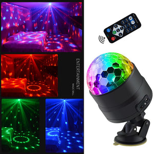 Dlight Sound Activated Rotating Disco Ball Party Lights Strobe Light USB LED Stage Lights For Christmas Home KTV Xmas Wedding Show