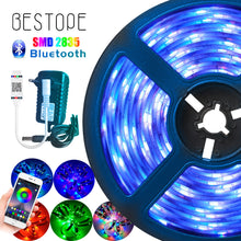 Load image into Gallery viewer, Dlight - Bluetooth LED Strip RGB Led Light Tape SMD 2835 DC12V  Waterproof LED Light 5m 10m diode Ribbon Flexible with Bluetooth remote