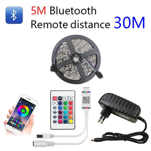 Dlight - Bluetooth LED Strip RGB Led Light Tape SMD 2835 DC12V  Waterproof LED Light 5m 10m diode Ribbon Flexible with Bluetooth remote