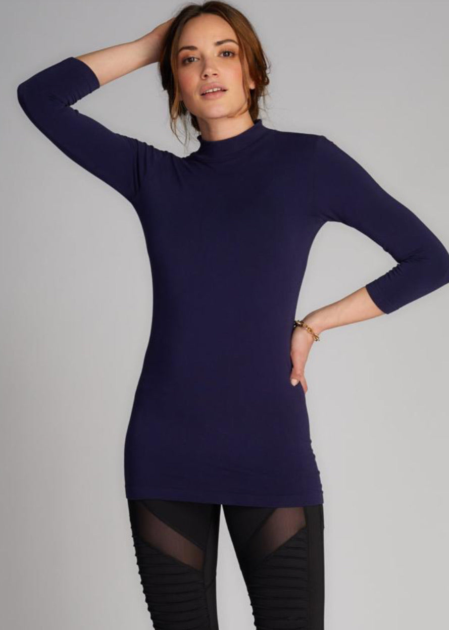 Bamboo 3/4 Mock Neck more colours