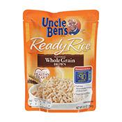 Rice, Whole Grain/Brown, Ready Rice, Uncle Ben's