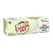 Diet Ginger Ale, Canada Dry, Cans