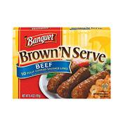Sausage Links, Brown N Serve, Beef, Banquet