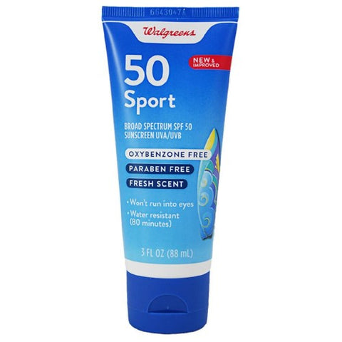 Sunscreen Lotion,  SPF 50, Walgreens