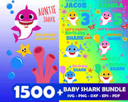 1500+ Baby Shark SVG Bundle
