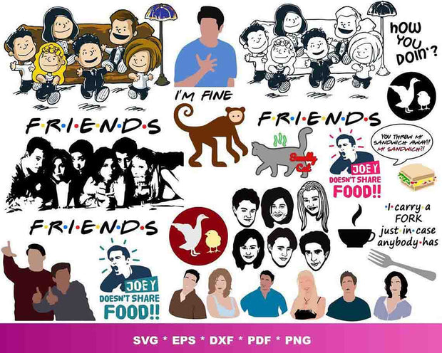 1000+ Friends TV Show SVG Bundle