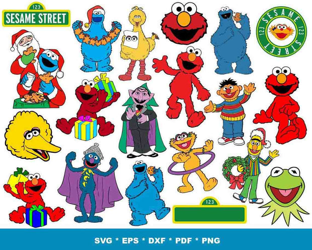1200+ Sesame Street SVG Bundle