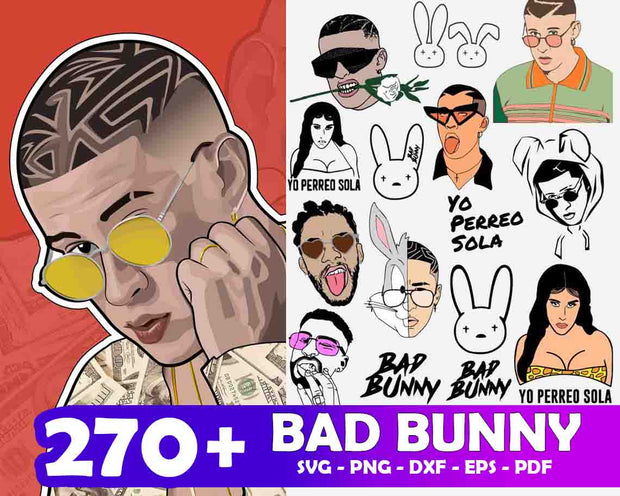 270+ Bad Bunny SVG Bundle