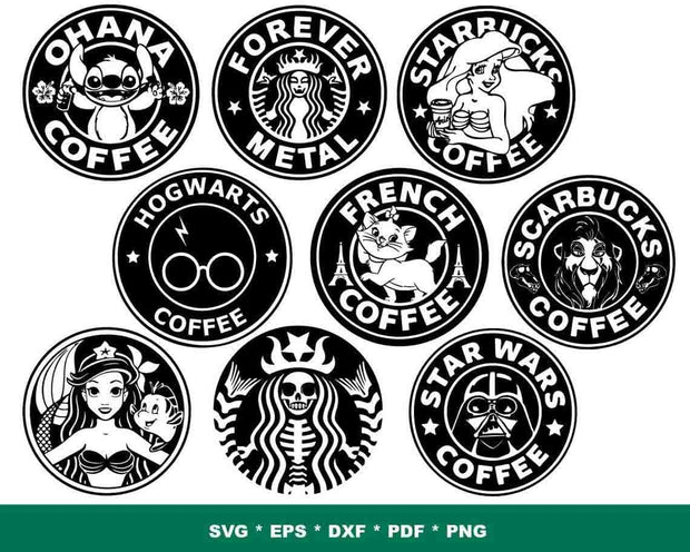 300+ Starbucks SVG Bundle