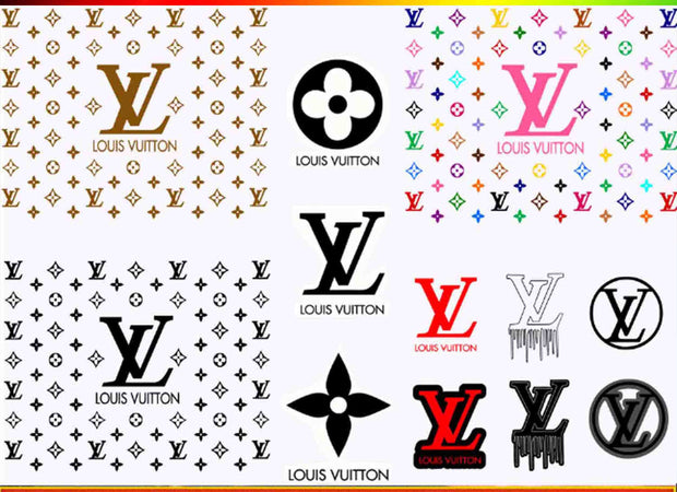 LV logo Bundle SvG PnG DxF