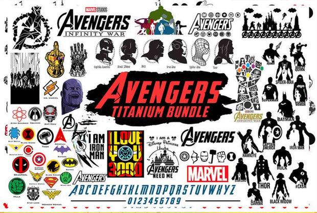 AVENGERS Bundle SvG PnG DxF