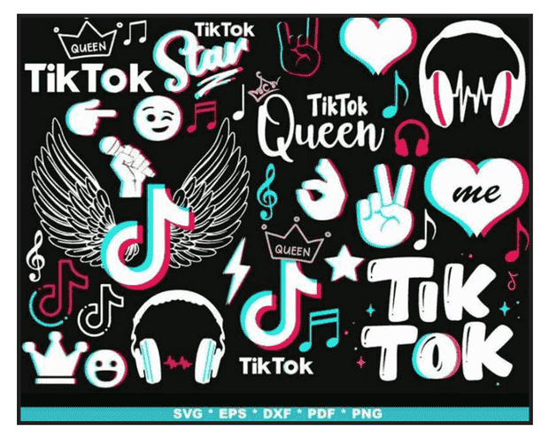 1000+ TikTok SVG Bundle