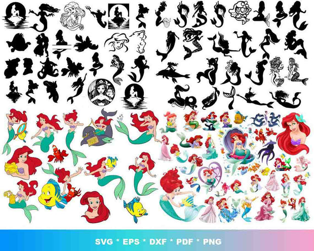 7000+ Disney Princess SVG Bundle