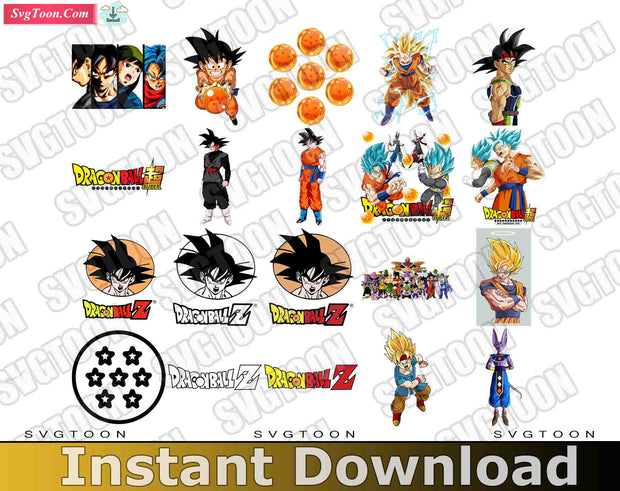 Dragon Ball Bundle SvG PnG DxF