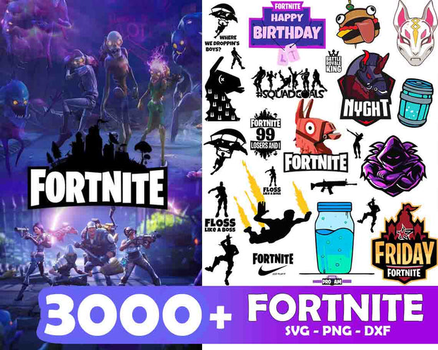 3000+ FORTNITE SvG Bundle
