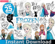 FROZEN Bundle SvG PnG DxF