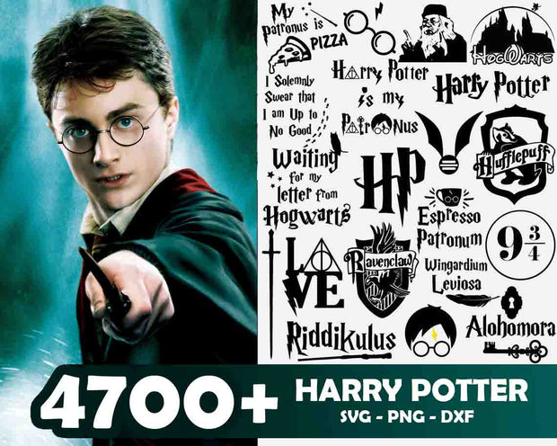 4700+ Harry Potter SvG Bundle