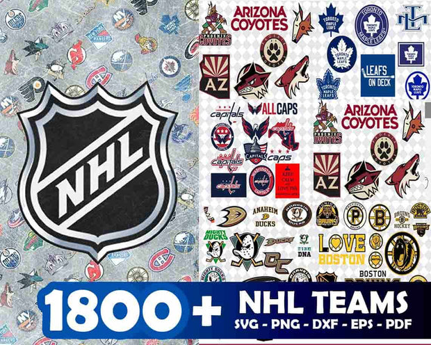 1800+ NHL  Teams SVG Bundle