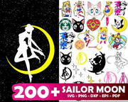 200+ Sailor Moon SVG Bundle