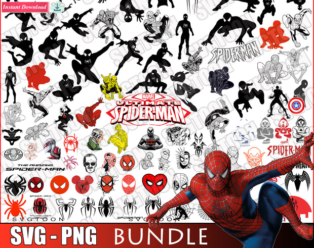 Spider-Man Bundle SvG PnG