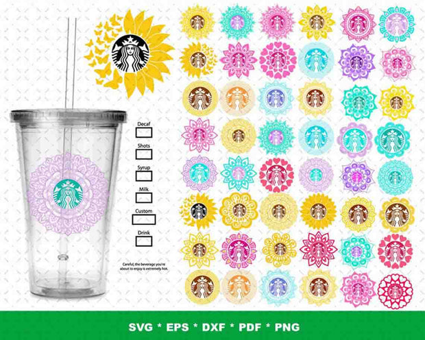 1500+ Huge Starbucks SVG Bundle
