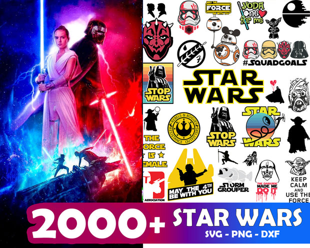 2000+ Star Wars SVG Bundle