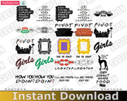 Friends Bundle SvG PnG DxF