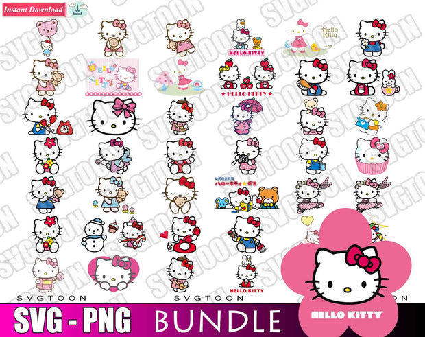 Hillo Kitty Bundle SvG PnG