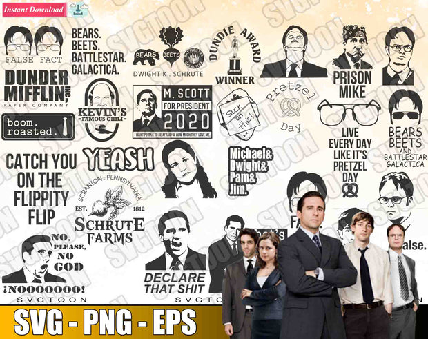 THE OFFICE Bundle SvG PnG EpS
