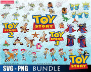 Toy Story Bundle SVG DXF PNG